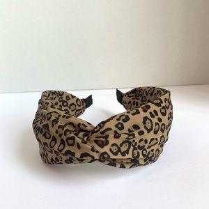 NEW Tan & Black Leopard Print Turban Headband